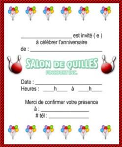 Salon de quilles pincourt inc f tes - Salon de l agriculture invitation gratuite ...